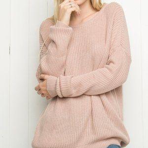Brandy Melville Blush Pink Bronx Sweater